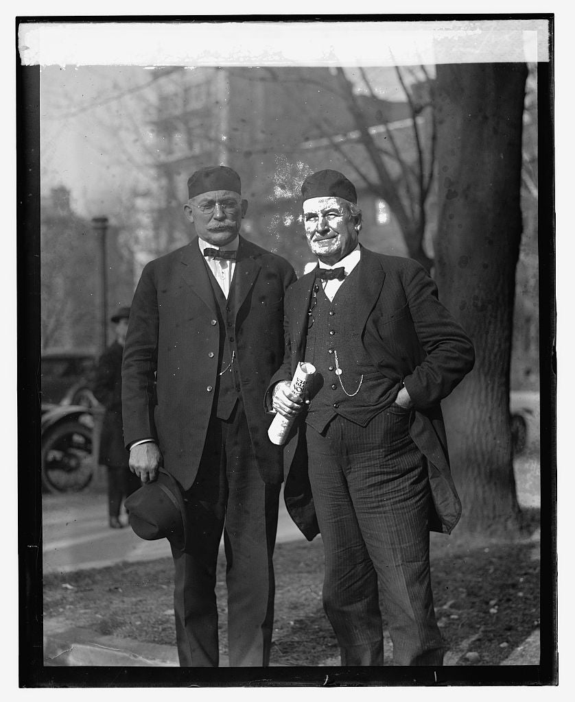 16 x 20 Reprinted Old Photo ofC.W. Bryan & Wm. Jennings Bryan, 1/15/24 1924 National Photo Co  78a