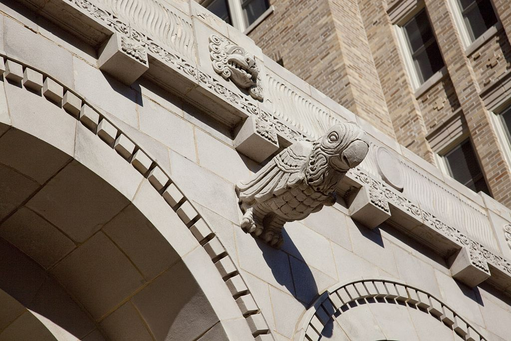 18 x 24 Photograph reprinted on fine art canvas  of Architectural details on apartments buildings Connecticut Ave. NW near downtown Washington D.C. r64 2010 by Highsmith, Carol M.,