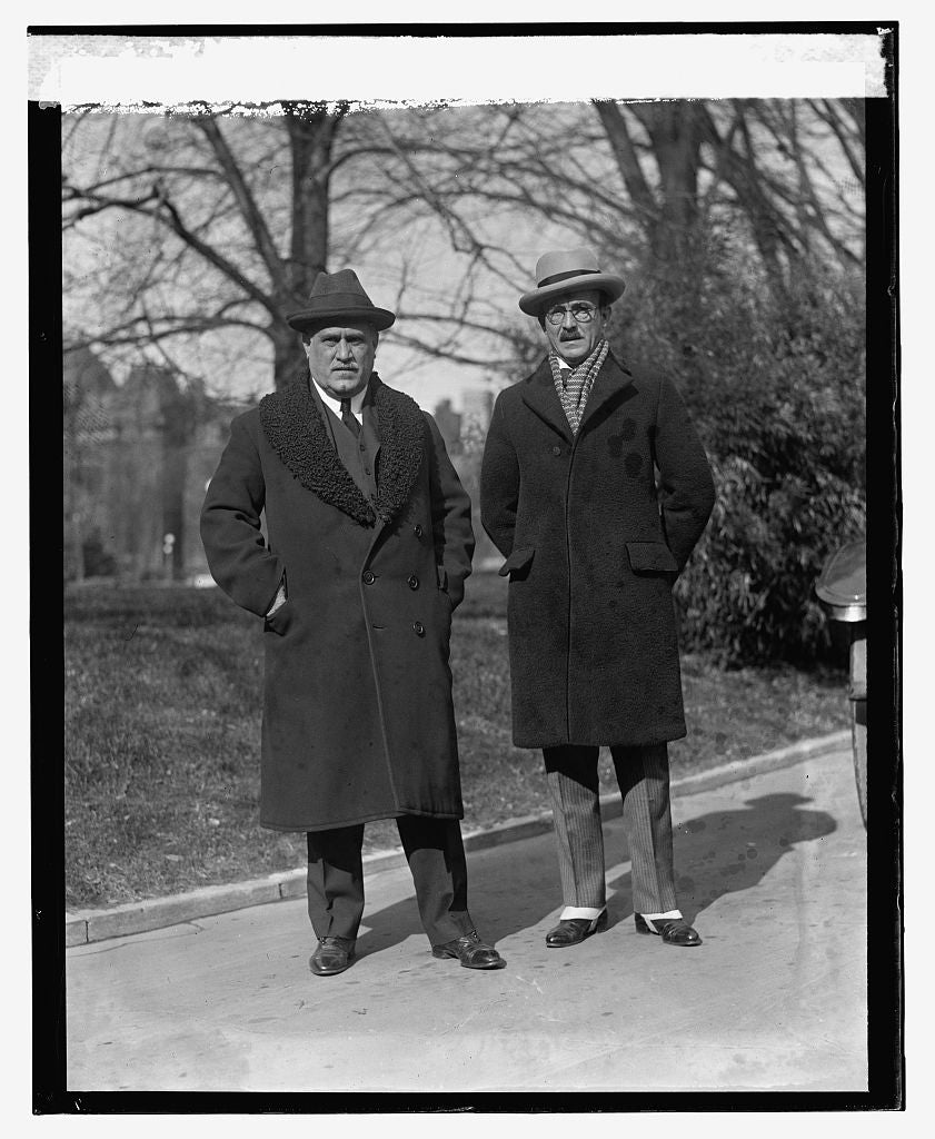 16 x 20 Reprinted Old Photo ofAntonio H. Barcelo, Miguel Mondragon, 1/23/24 1924 National Photo Co  03a