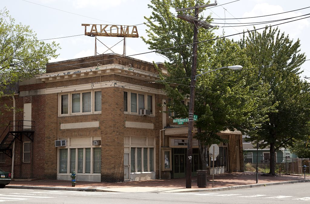 18 x 24 Photograph reprinted on fine art canvas  of The Takoma Theatre corner of 4th and Butternut St. in the Takoma neighborhood of Washington D.C. r73 2010 by Highsmith, Carol M.,
