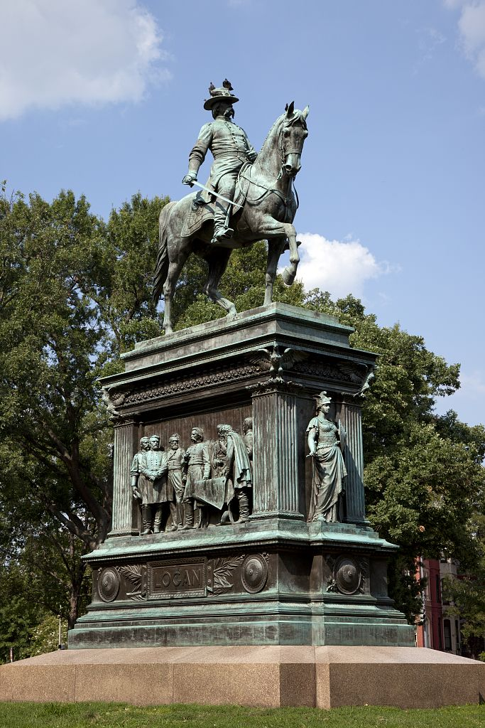 18 x 24 Photograph reprinted on fine art canvas  of An equestrian statue honoring John A. Logan stands in the center of Logan Circle Washington D.C. r96 2010 by Highsmith, Carol M.,