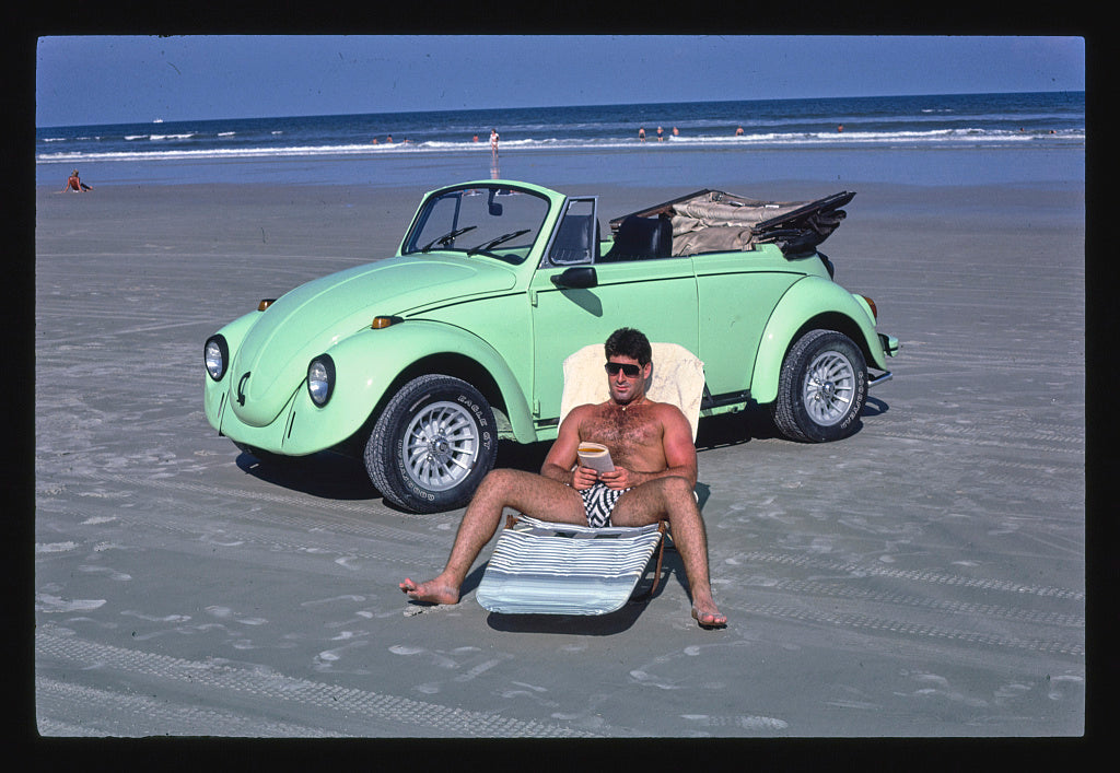 8 x 12 Photo of Sunbather, Daytona Beach, Florida 1985 Margolies, John 48a