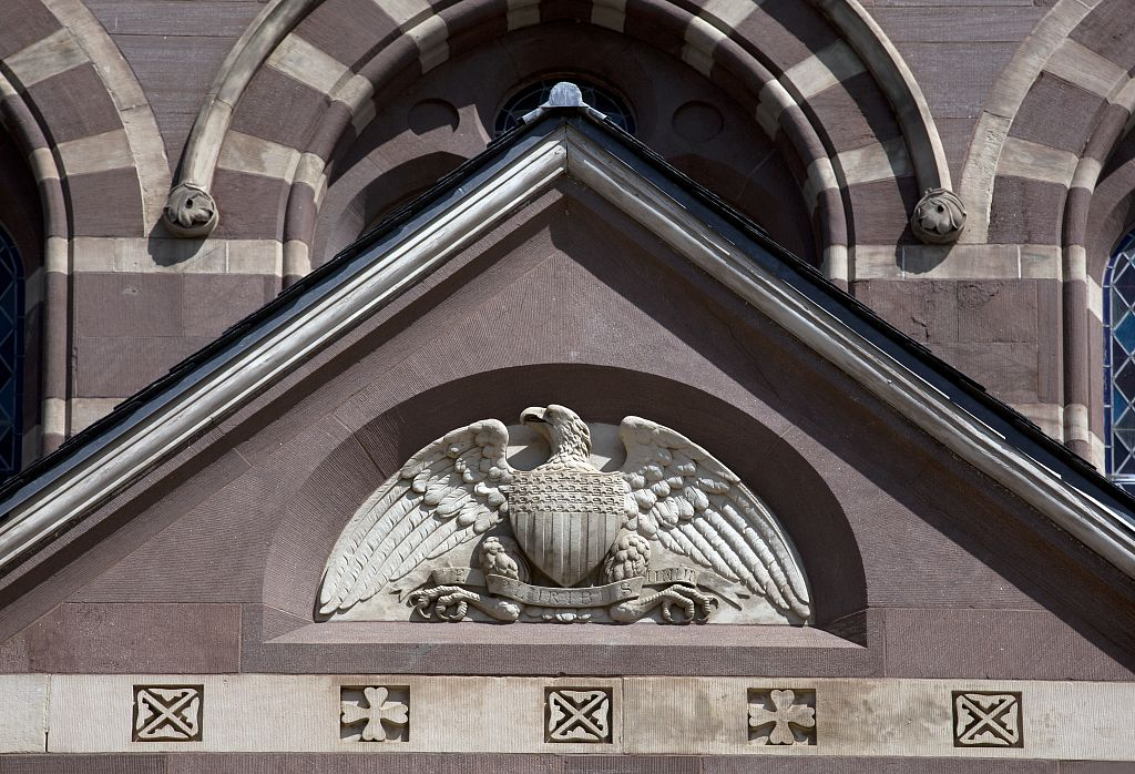 18 x 24 Photograph reprinted on fine art canvas  of Architectural detail the Chapel Building of Gallaudet University Washington D.C. r09 2010 by Highsmith, Carol M.,