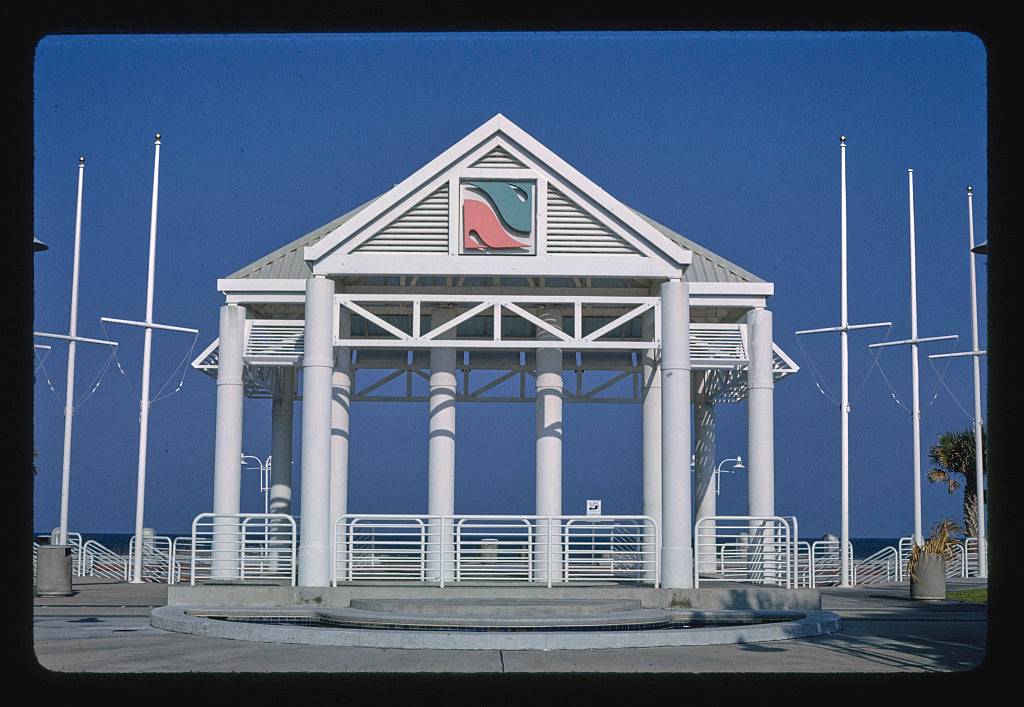 8 x 12 Photo of Beach pavilion, Jacksonville Beach, Florida 1990 Margolies, John 91a