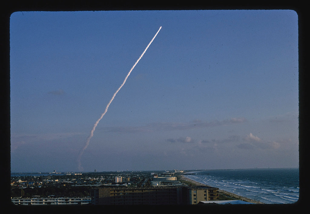 8 x 12 Photo of Discovery Space Shuttle Launch, Cocoa Beach, Florida 1990 Margolies, John 66a