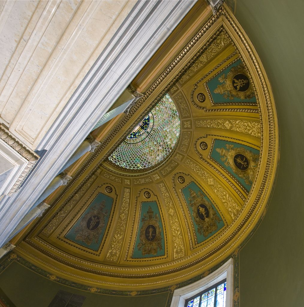18 x 24 Photograph reprinted on fine art canvas  of Dome over monumental stair Birch Bayh Federal Building Indianapolis Indiana r72 2009 by Highsmith, Carol M.,