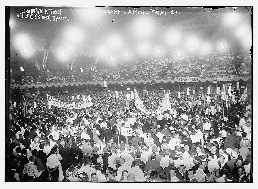8 x 10 Photo of Convention in session, 3AM Clark Demonstration 1912 G. Bain Collection 82a