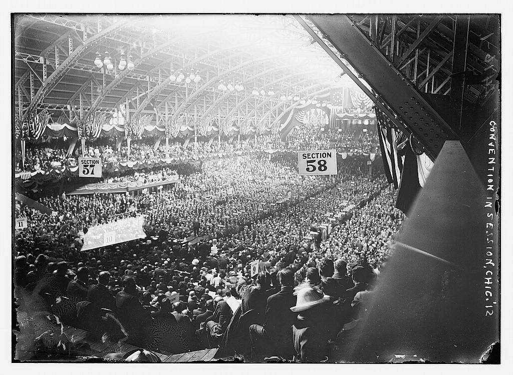 8 x 10 Photo of Convention in session, Chicago 1912 G. Bain Collection 91a
