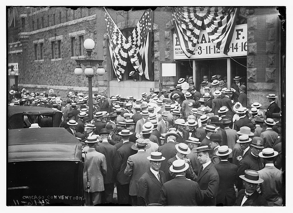 8 x 10 Photo of Chicago Convention 1912 G. Bain Collection 97a