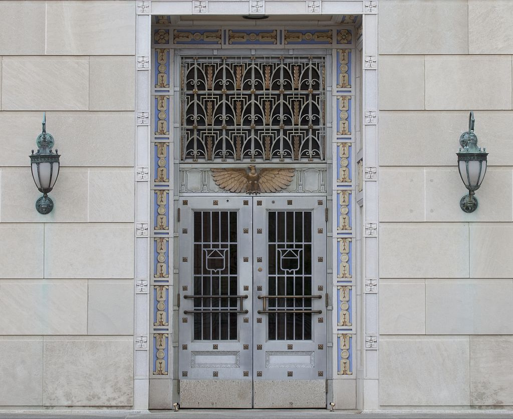 18 x 24 Photograph reprinted on fine art canvas  of Door detail U.S. Post Office and Courthouse Camden New Jersey r23 2009 by Highsmith, Carol M.,