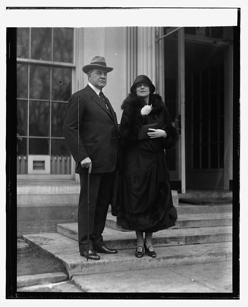 16 x 20 Reprinted Old Photo ofJas. K. Hackett & wife, 2/18/24 1924 National Photo Co  97a