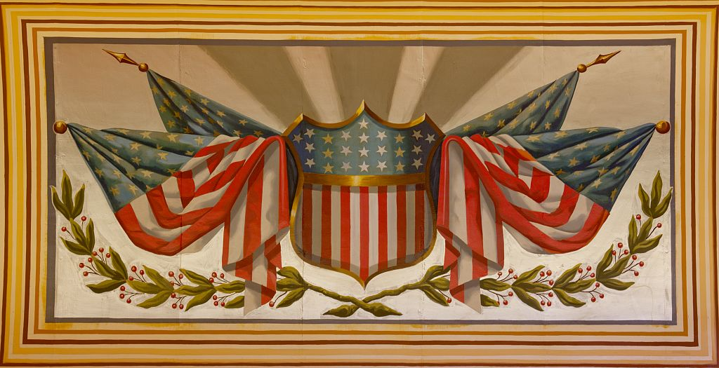 18 x 24 Photograph reprinted on fine art canvas  of Ceiling murals U.S. Custom House Charleston South Carolina r48 2009 October 24 by Highsmith, Carol M.,