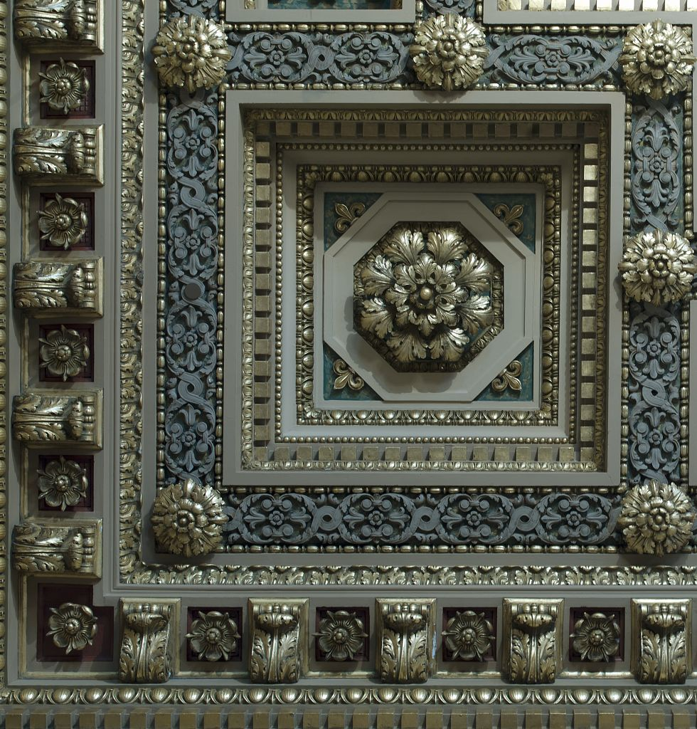 18 x 24 Photograph reprinted on fine art canvas  of East courtroom ceiling detail Howard M. Metzenbaum U.S. Courthouse Cleveland Ohio r71 2009 by Highsmith, Carol M.,