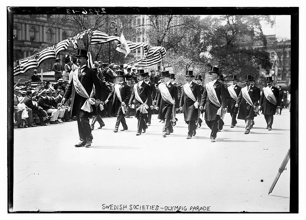 8 x 10 Photo of Swedish Societies Olympic Parade 1912 G. Bain Collection 39a