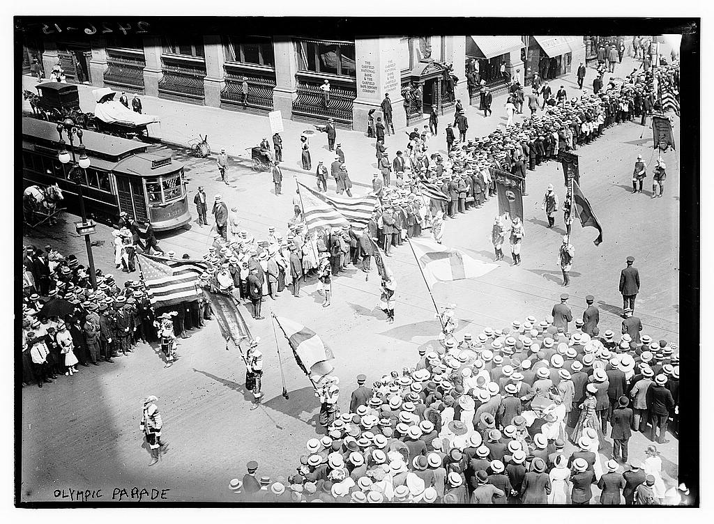 8 x 10 Photo of Olympic Parade 1912 G. Bain Collection 41a
