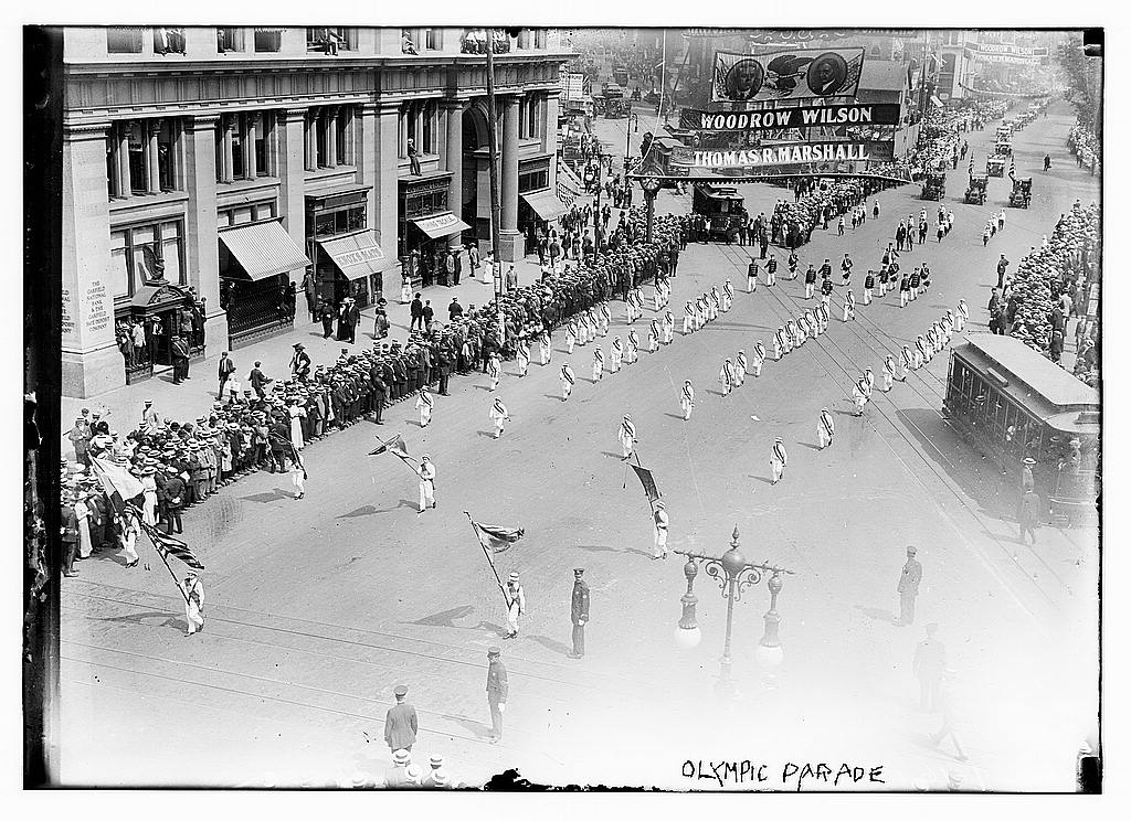8 x 10 Photo of Olympic parade 1912 G. Bain Collection 42a