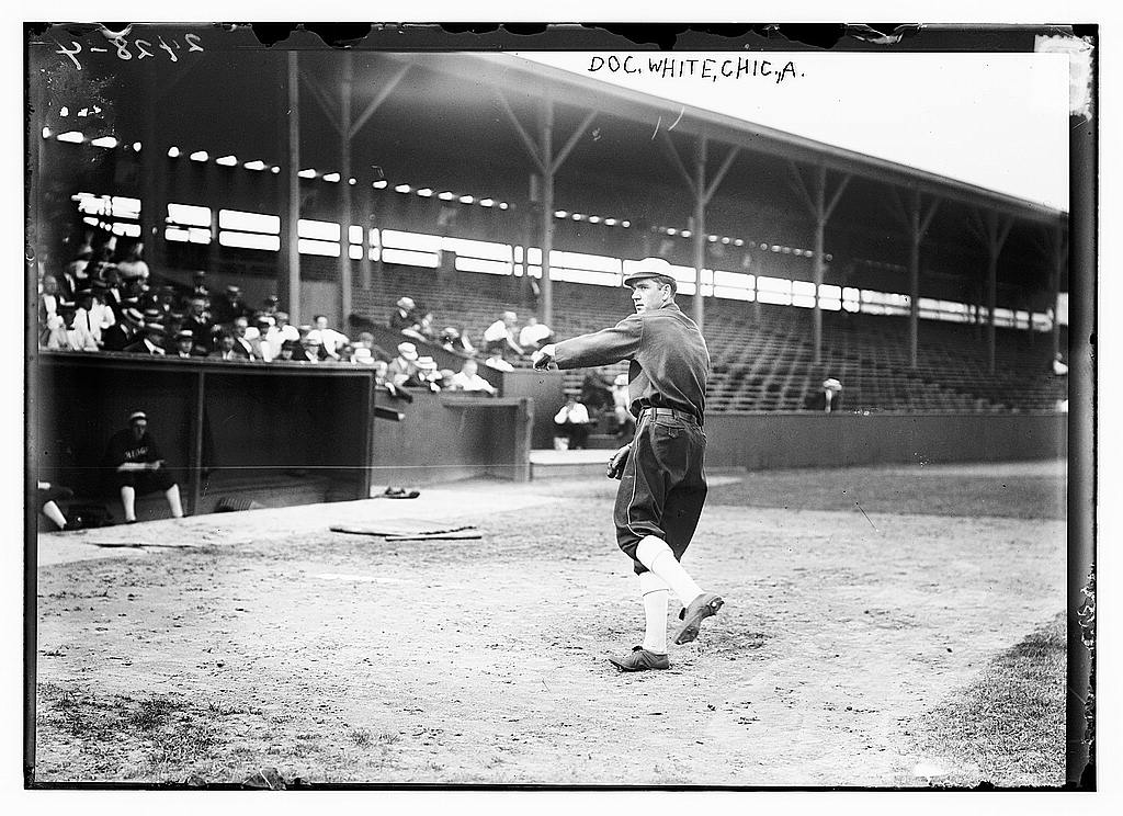 8 x 10 Photo of Doc White, Chicago AL, at Hilltop Park, NY baseball  1912 G. Bain Collection 45a