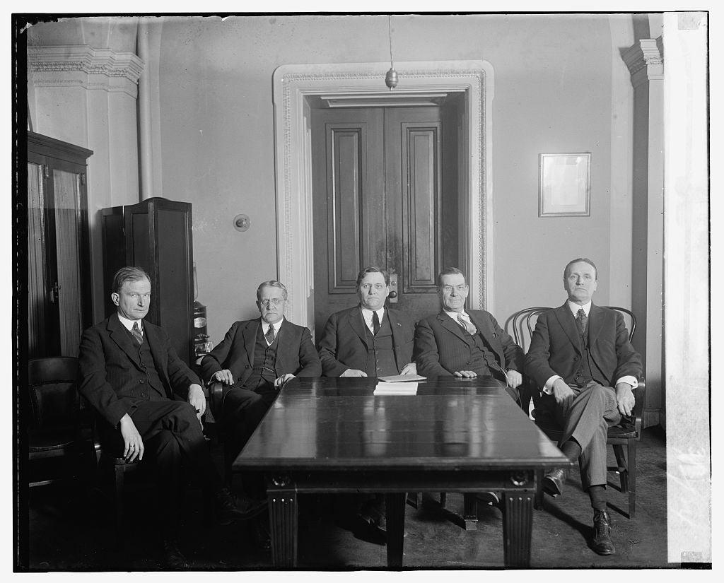 16 x 20 Gallery Wrapped Frame Art Canvas Print of Sen. Smith W. Brookhart and group at table, 3/3/24 1924 National Photo Co  71a