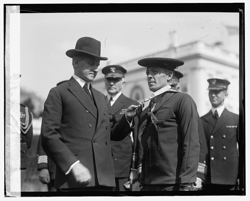 16 x 20 Gallery Wrapped Frame Art Canvas Print of Coolidge & Henry Breault, 3/8/24 1924 National Photo Co  79a