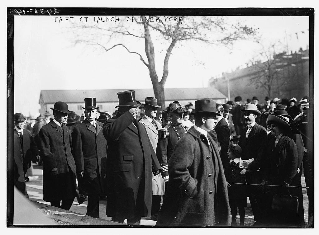 8 x 10 Photo of Taft at launch of NEW YORK 1912 G. Bain Collection 58a