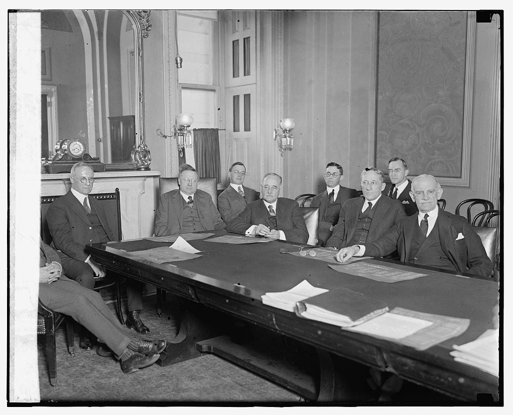 16 x 20 Gallery Wrapped Frame Art Canvas Print of  Senate Comm. to investigate Internal Rev., 3/14/24 1924 National Photo Co  90a