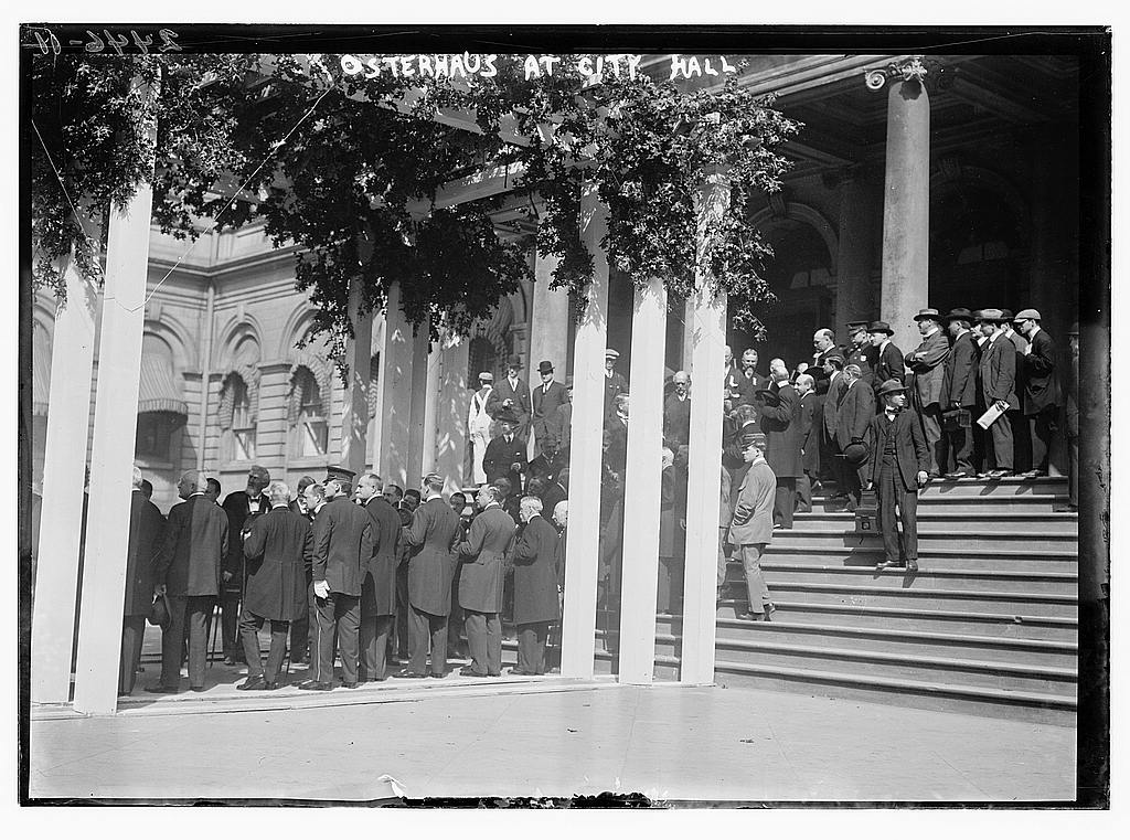 8 x 10 Photo of Osterhaus at City Hall 1912 G. Bain Collection 04a