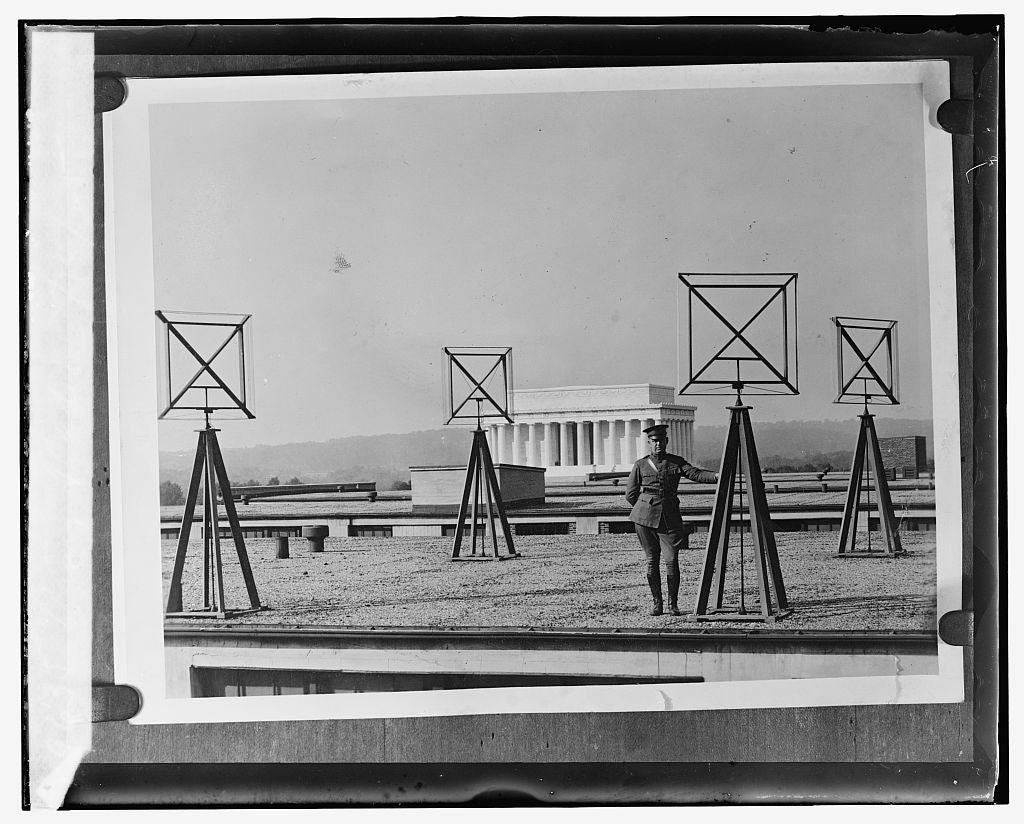 16 x 20 Gallery Wrapped Frame Art Canvas Print of  Army radio, 3/24/25 1924 National Photo Co  00a