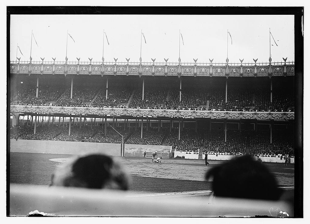 8 x 10 Photo of Game One of the World Series between the New York Giants and Boston Red Sox at the Polo Grounds, NY, October 8, 1912 baseball  1912 G. Bain Collection 12a