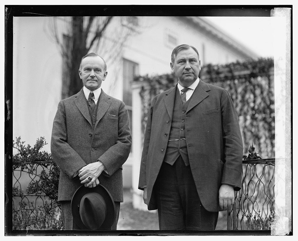 16 x 20 Reprinted Old Photo of Coolidge & Harlan F. Stone 1924 National Photo Co  73a