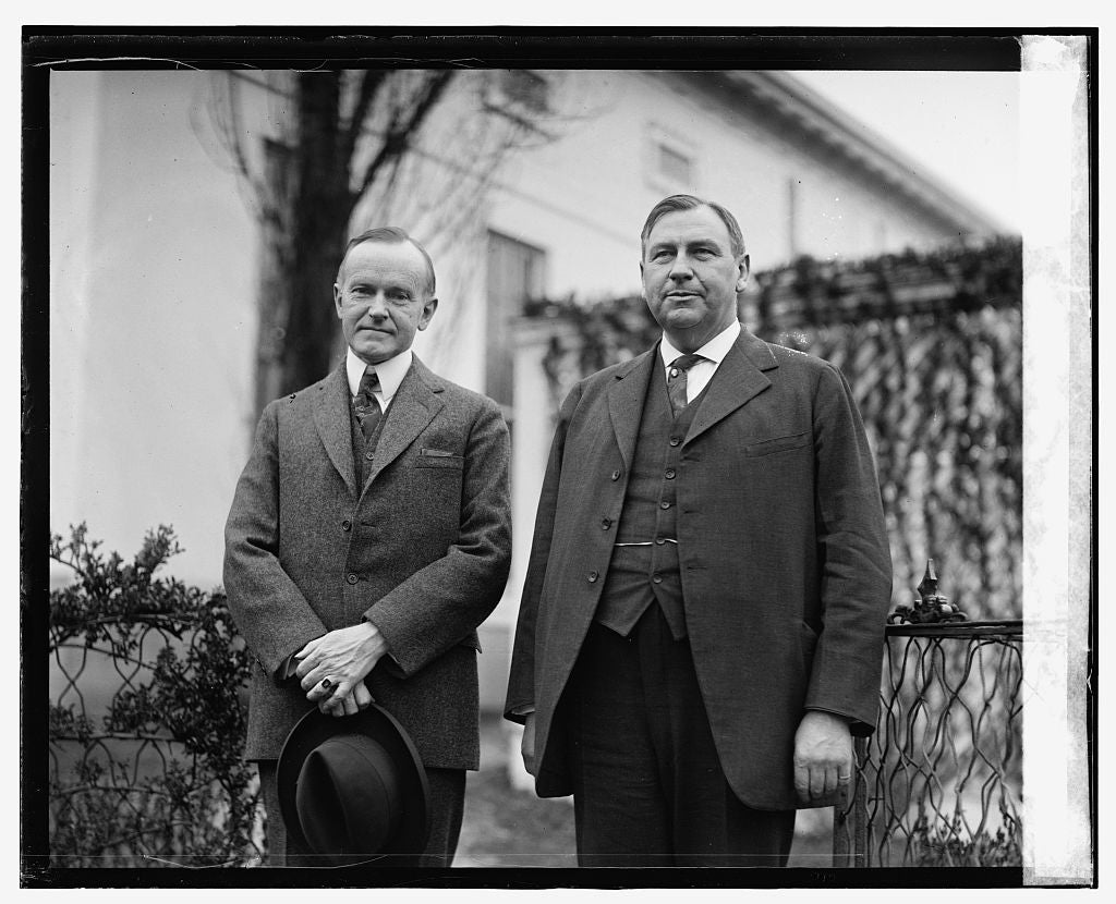16 x 20 Gallery Wrapped Frame Art Canvas Print of  Coolidge & Harlan F. Stone 1924 National Photo Co  02a