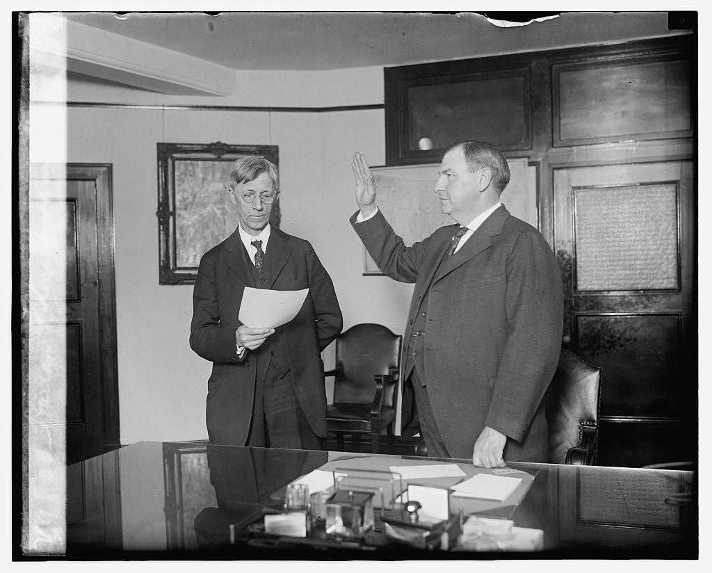 16 x 20 Gallery Wrapped Frame Art Canvas Print of  Harlan F. Stone swearing in, 4/9/24 1924 National Photo Co  03a