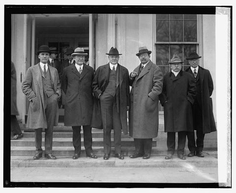16 x 20 Gallery Wrapped Frame Art Canvas Print of  Advisory Committee on Coordination of Rail & Water Transportation 4/3/24 1924 National Photo Co  06a