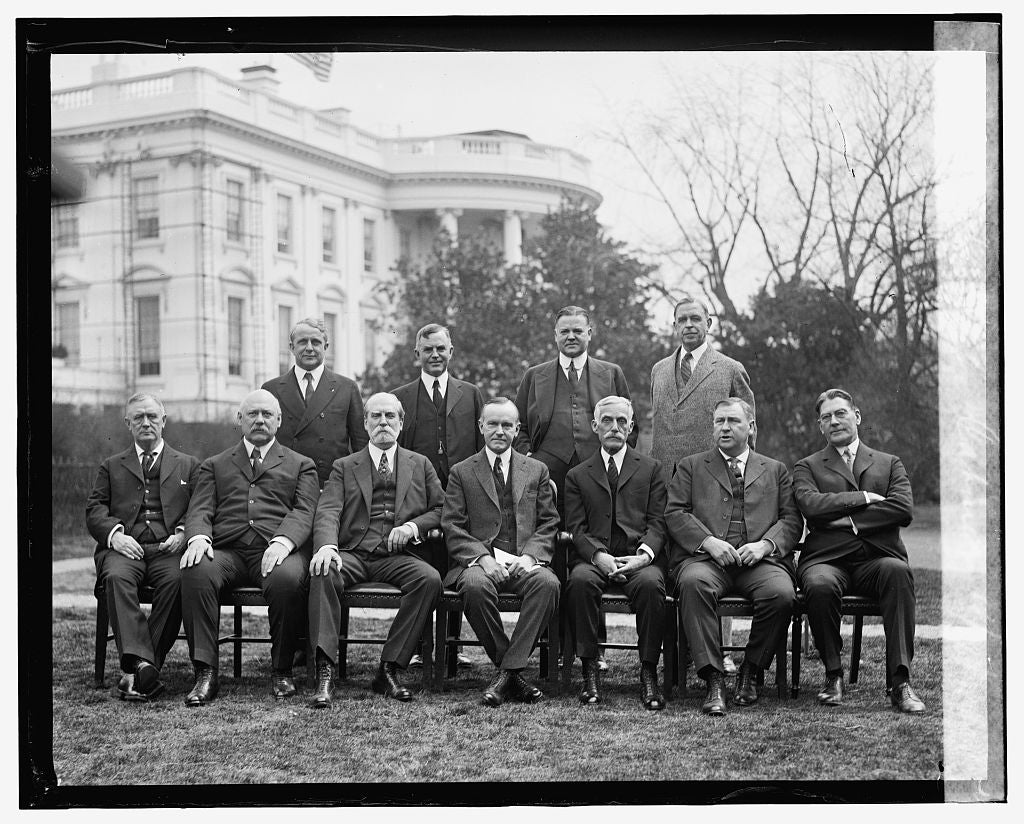 16 x 20 Gallery Wrapped Frame Art Canvas Print of  Coolidge cabinet, 4/4/24 1924 National Photo Co  16a