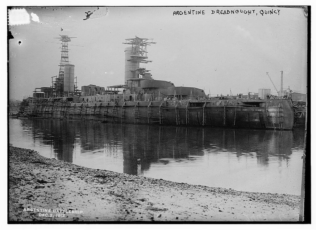 8 x 10 Photo of Argentine Dreadnought, Quincy, 12/2/12 1912 G. Bain Collection 54a