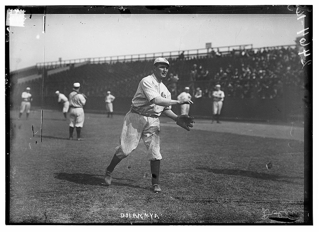 "8 x 10 Photo of Albert ""Cozy"" Dolin at Hilltop Park, NY, New York AL baseball  1912 G. Bain Collection 56a"