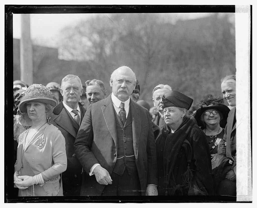 16 x 20 Gallery Wrapped Frame Art Canvas Print of  New & Weeks, Key Tablet unveiling, 4/21/24 1924 National Photo Co  08a