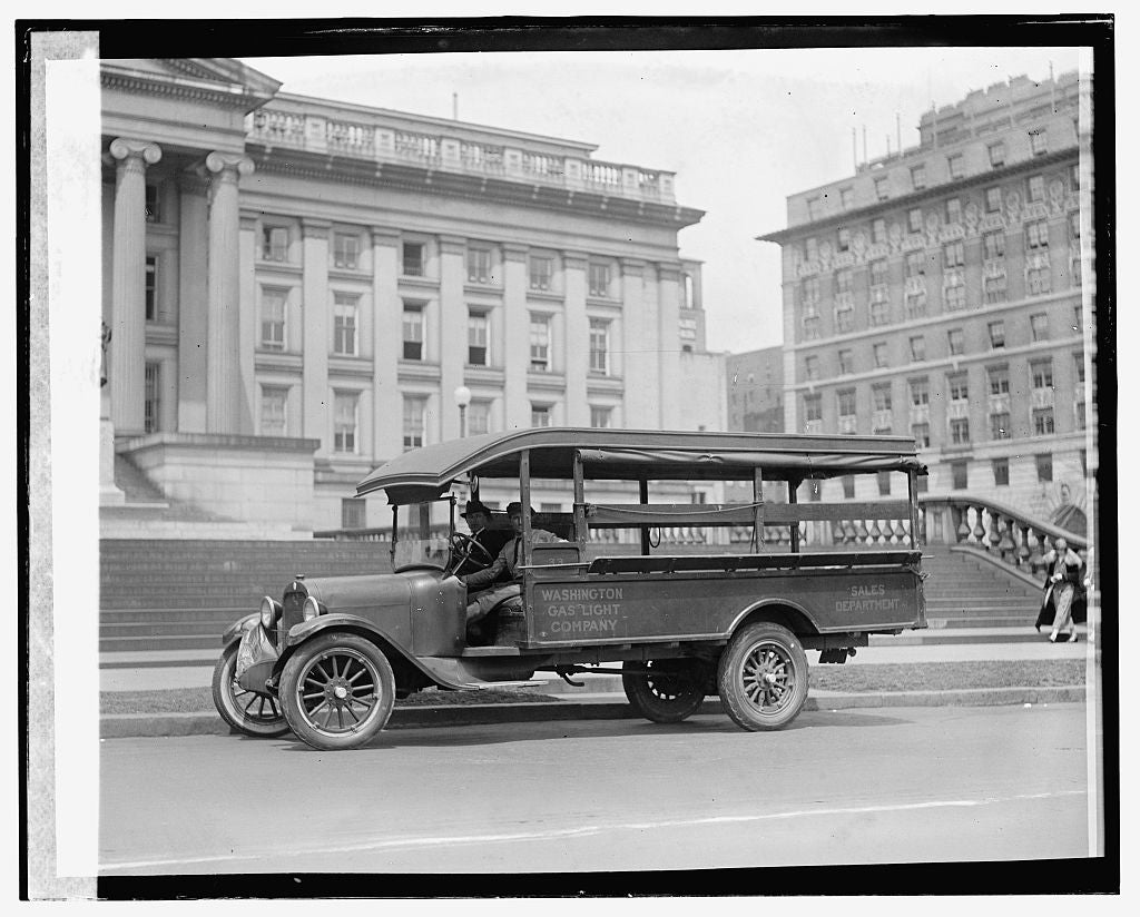 16 x 20 Gallery Wrapped Frame Art Canvas Print of  Graham Bros. Gas Co. truck 1924 National Photo Co  56a