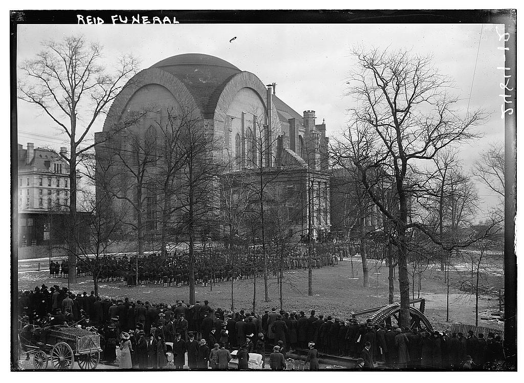 8 x 10 Photo of Reid Funeral 1913 G. Bain Collection 91a