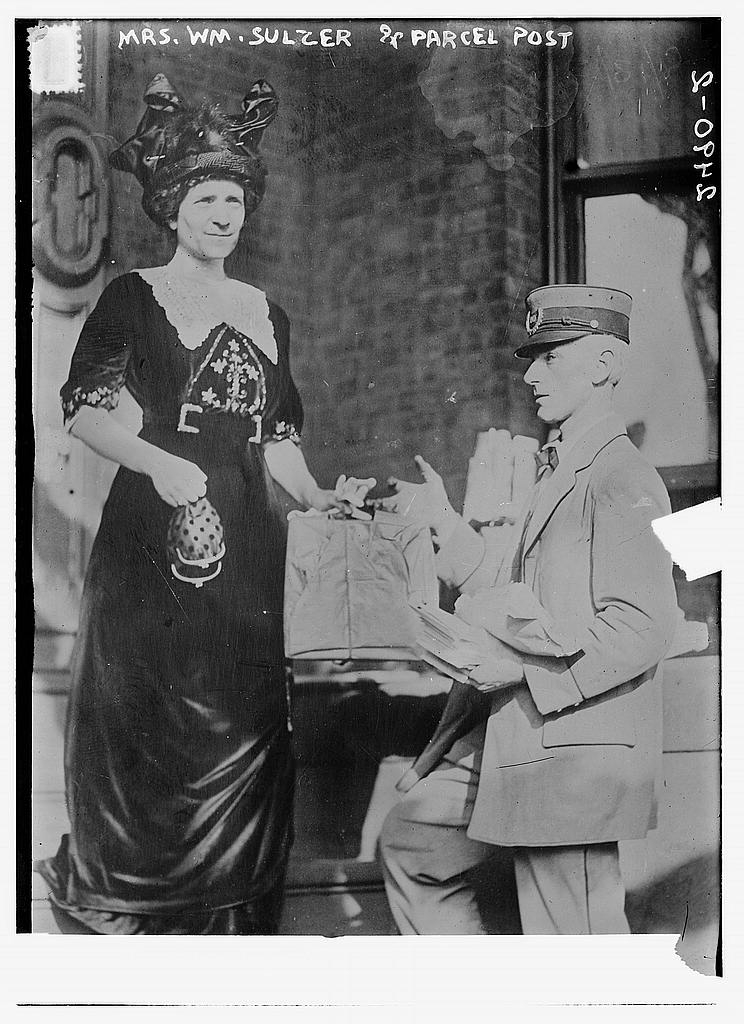8 x 10 Photo of Mrs. Wm. Sulzer & parcel post 1913 G. Bain Collection 93a