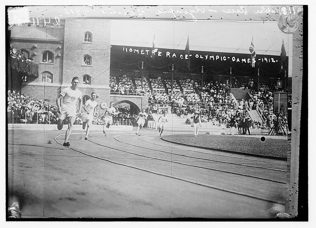 8 x 10 Photo of 110 metre race Olympic Games 1912 1912 G. Bain Collection 09a