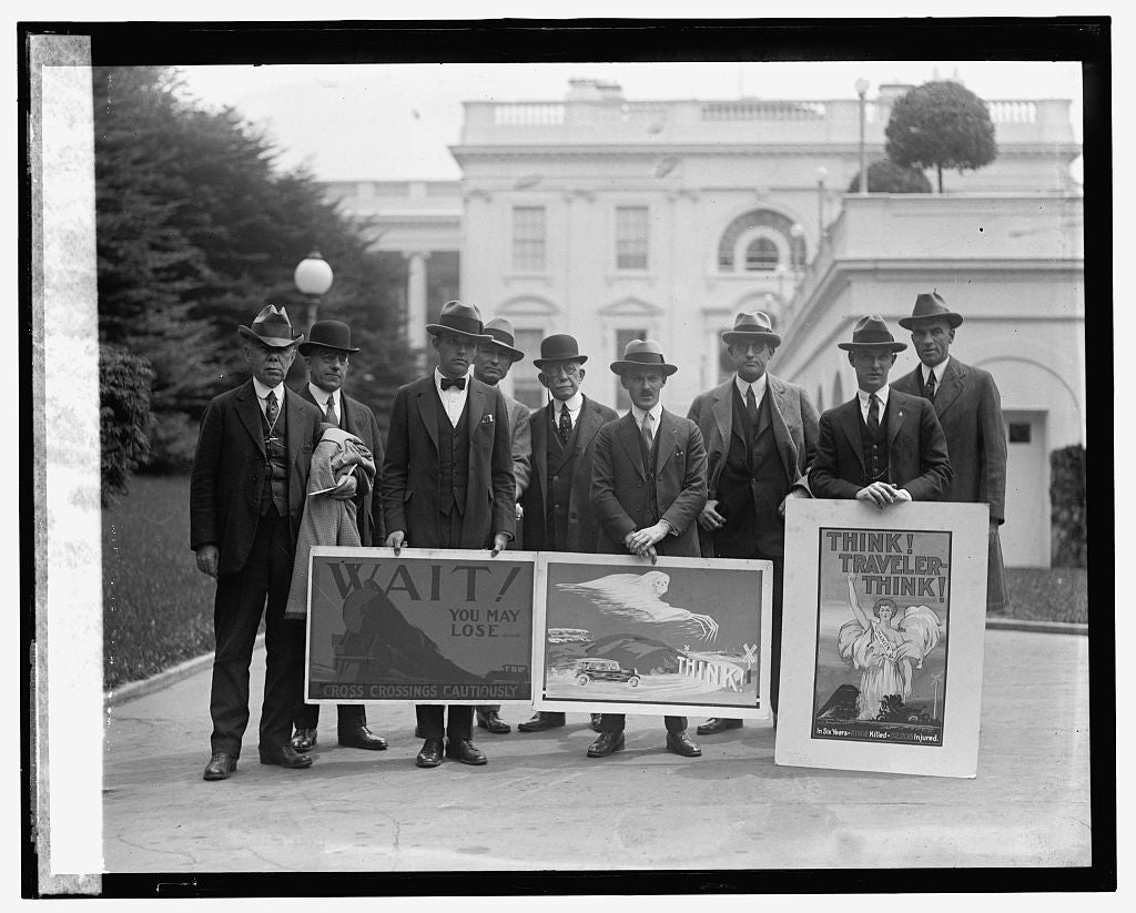 16 x 20 Gallery Wrapped Frame Art Canvas Print of Poster winners, Am. R.R. Assn., 5/10/24 1924 National Photo Co  21a