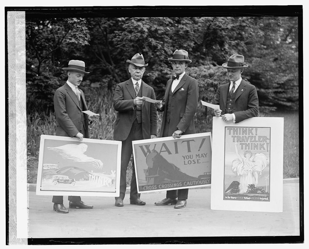 16 x 20 Gallery Wrapped Frame Art Canvas Print of Poster winners, Am. R.R. Assn., 5/10/24 1924 National Photo Co  22a