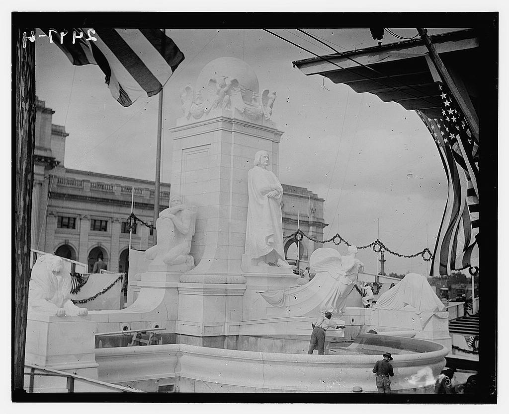 8 x 10 Photo of Columbus Day Memorial Celebration, Union Station, Washington, D.C., 1912 1912 G. Bain Collection 29a