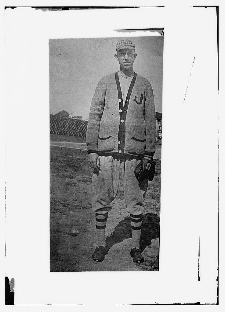 8 x 10 Photo of Ray Frost wearing a minor league uniform baseball  1912 G. Bain Collection 37a