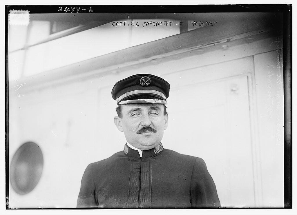 8 x 10 Photo of Capt. C.C. McCarthy of MEADE 1913 G. Bain Collection 01a