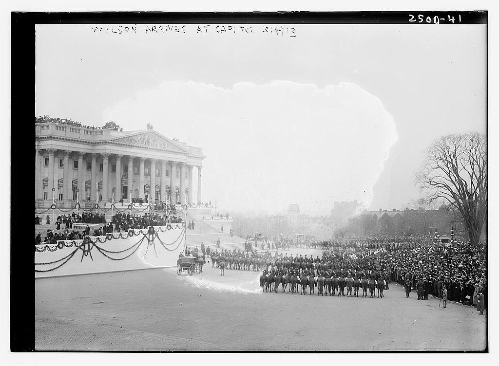 8 x 10 Photo of Wilson arrives at Capitol 1913 G. Bain Collection 20a