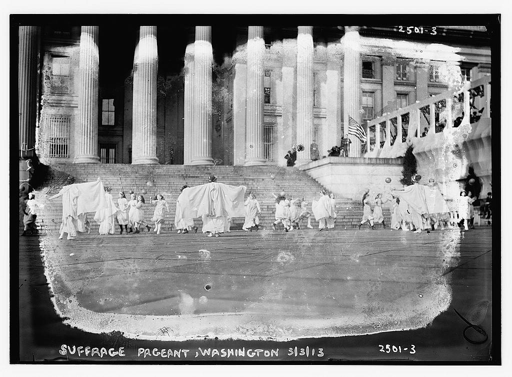 8 x 10 Photo of Suffrage pageant Washington, 1913 1913 G. Bain Collection 27a