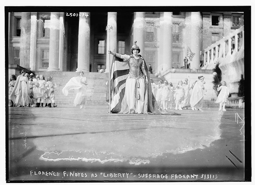 8 x 10 Photo of Hedwig Reicher as Columbia in Suffrage Pageant 1913 G. Bain Collection 37a