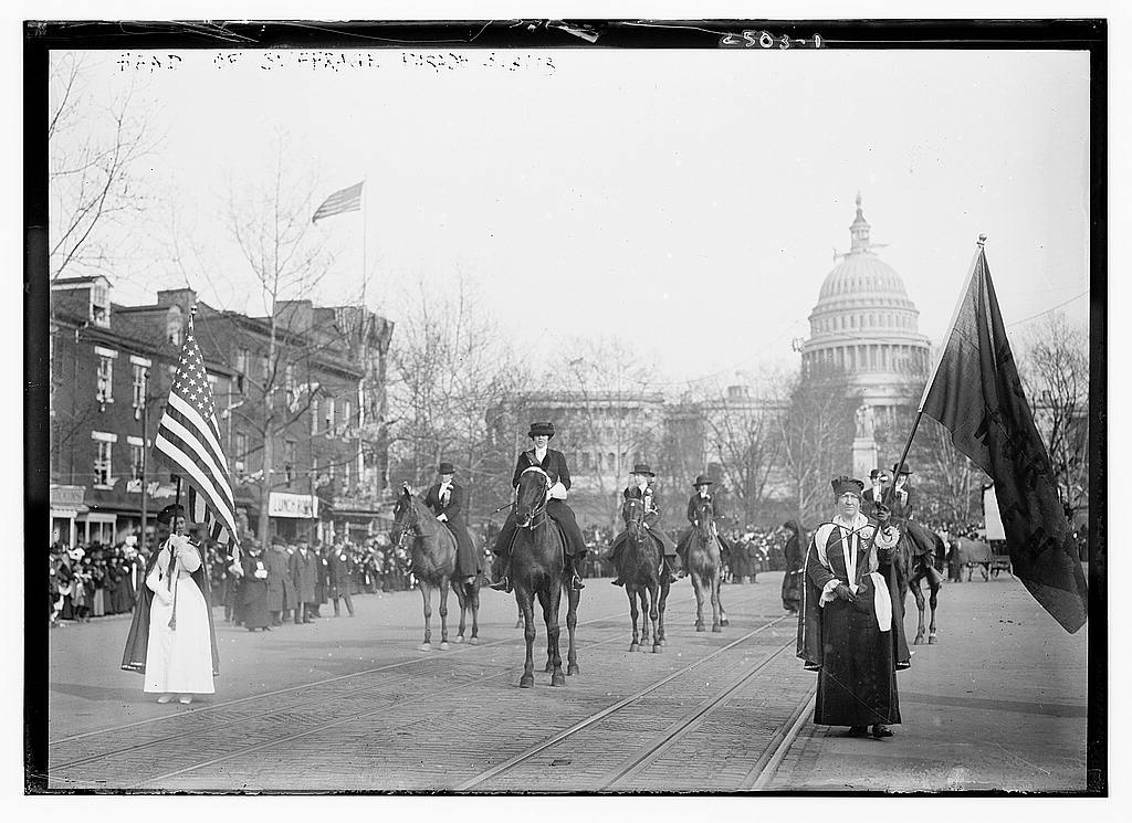 8 x 10 Photo of Head of suffrage parade 1913 G. Bain Collection 45a