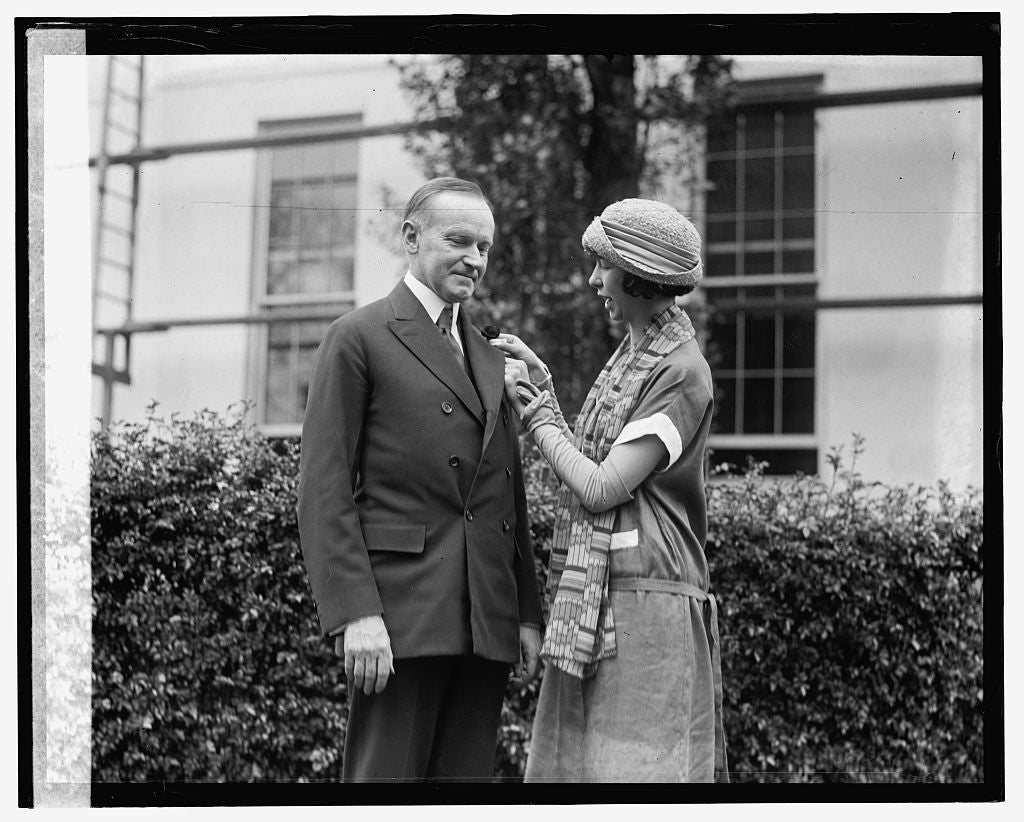 16 x 20 Gallery Wrapped Frame Art Canvas Print of Coolidge & Grace Laura Newton 1924 National Photo Co  46a